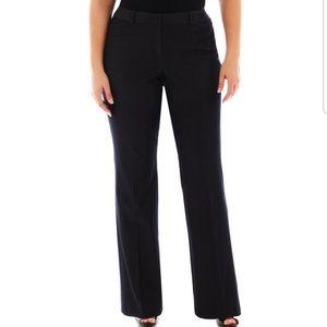 Worthington Modern Fit Black Trouser Pant Size 6P